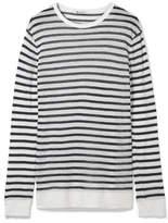 Alexander Wang Striped Jersey Sweater - White