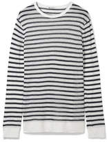 Alexander Wang Striped Slub Stretch-jersey Sweater - White