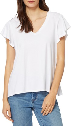 Habitual V-Neck Flutter Sleeve T-Shirt
