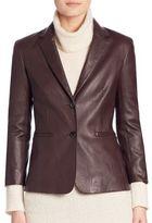 The Row Nolbon Leather Jacket