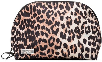 Ganni leopard-print pouch