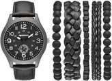Arizona Mens Black 6-pc. Watch Boxed Set-Fmdarz548