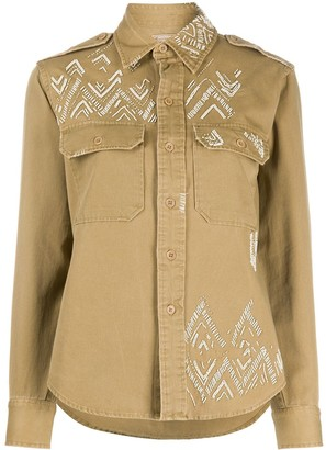 Polo Ralph Lauren Sequin Embroidered Long Sleeved Shirt