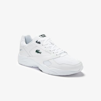 Lacoste Men's Storm 96 LO Textile and Leather Trainers