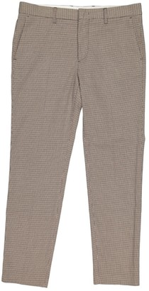 MSGM Beige Polyester Trousers