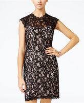 Sequin Hearts Juniors' Sequined Lace Bodycon Dress
