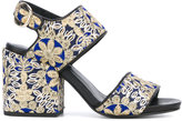 Strategia ethnic embroidery sandals - women - Leather/Polyester - 37