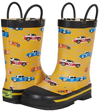 Western Chief Retro Race Rain Boots (Toddler/Little Kid/Big Kid) (Yellow) Boy's Shoes