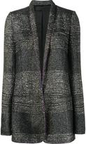 Haider Ackermann striped long fitted jacket