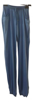 Christian Dior Blue Spandex Trousers