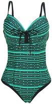 Perfashion Women's Print Tummy Control One Piece Swimsuit Plus Size Swimwear for Women 3XL