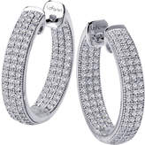 Lafonn Classic Platinum Plated Simulated Diamond Drop Earrings