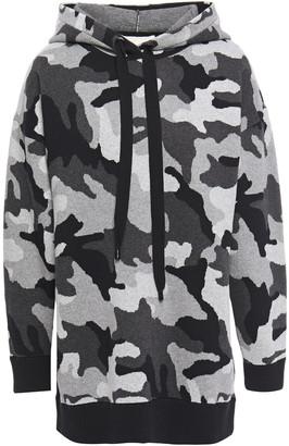 MICHAEL Michael Kors Printed Cotton-blend Jersey Hoodie