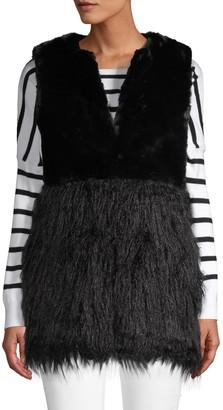 Stella + Lorenzo Textured Faux Fur Vest