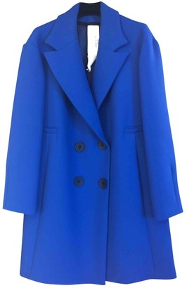 Annie P. Blue Wool Coat for Women