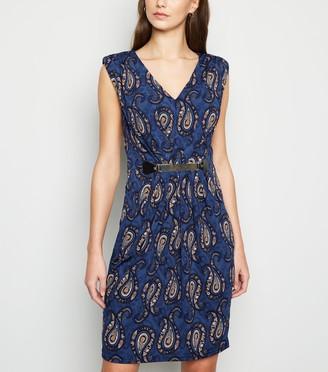 New Look Mela Paisley Print Belted Mini Dress