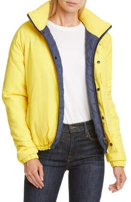 Opening Ceremony Water Resistant Reversible Quilted Puffer Coat