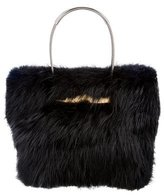 Balenciaga Fur Cable Shopper Tote