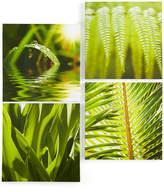 Graham & Brown Green Leaf Quad Canvas Print