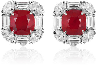 Bayco Mozambique Ruby & Diamond Stud Earrings