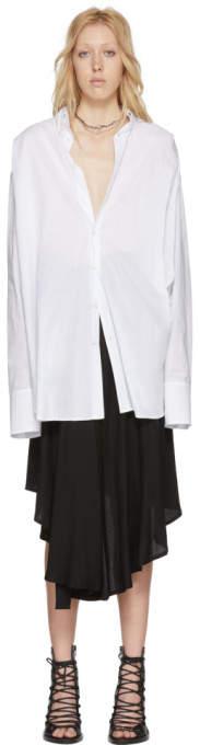 Ann Demeulemeester White Oversized Shirt