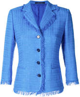 Tagliatore fringed tweed blazer