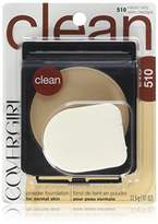 Cover Girl Clean Powder Foundation, 1 Container (0.41 oz), Classic Ivory Tone, Hypoallergenic Facial Powder, Sensitive Skin Safe