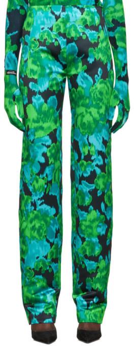 Richard Quinn Green Floral Trousers