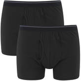 Wolsey Men's Twin Pack Keyhole Boxer Shorts Black