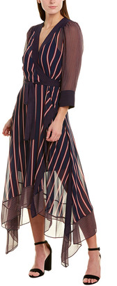 BCBGMAXAZRIA Crepe Maxi Wrap Dress