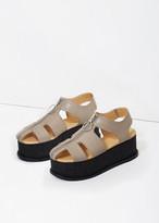 MM6 MAISON MARGIELA Zip Front Platform Sandal