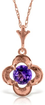 Overstock 14K Rose Gold Purple Amethyst Necklace Gemstone Series New