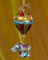 Jay Strongwater Balloon with Elephant Glass Christmas Ornament