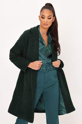 I SAW IT FIRST Khaki Button Front Formal Coat