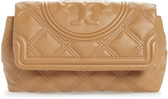 Tory Burch Fleming Soft Quilted Leather Clutch