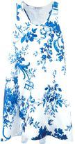 Dondup flared floral print dress