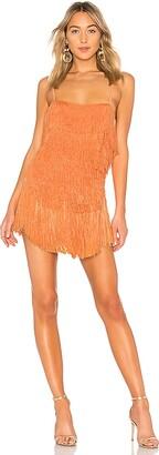 NBD Sunrise Fringe Mini Dress