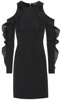 David Koma Ruffled open shoulder dress