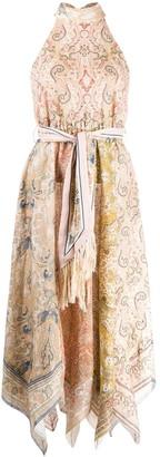 Zimmermann Paisley Asymmetric Dress