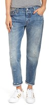 Levi's '501 ® CT' Distressed Boyfriend Jeans (Darn and Dusted)