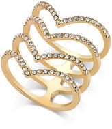 INC International Concepts Gold-Tone Chevron Crystal Stacked Ring, Only at Macy's