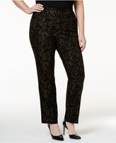 JM Collection Plus Size Snakeskin-Print Straight-Leg Pants, Only at Macy's