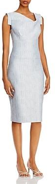 Black Halo Jackie O Asymmetric Neck Sheath Dress