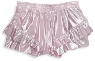 Imoga Little Girl's & Girl's Ruffle Metallic Shorts