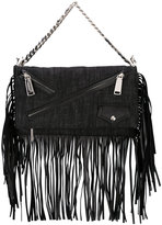 DSQUARED2 Babe Wire fringed clutch - women - Cotton/Calf Leather - One Size