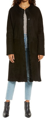 UGG Remy Reversible Genuine Shearling Coat