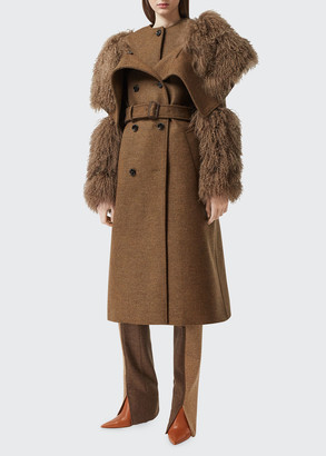 Burberry Shearling Wool-Cashmere Trench Coat