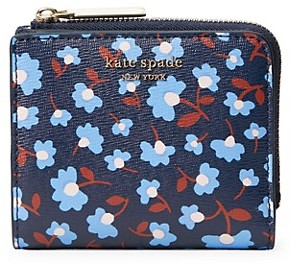 Kate Spade Floral-Print Leather Bi-Fold Wallet