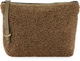 Kelsi Dagger Commuter Faux-Shearling Evening Clutch Bag, Olive/Multi