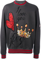 Dolce & Gabbana embroidered sweatshirt